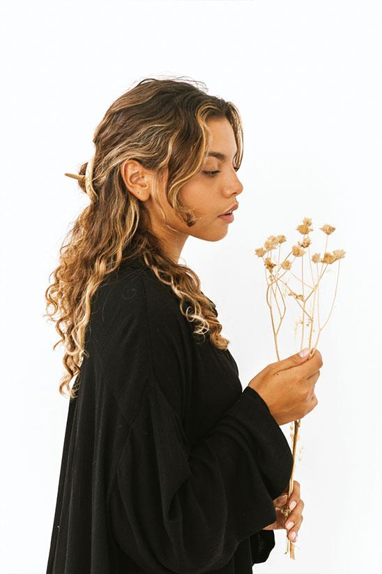 Wooden hair slides