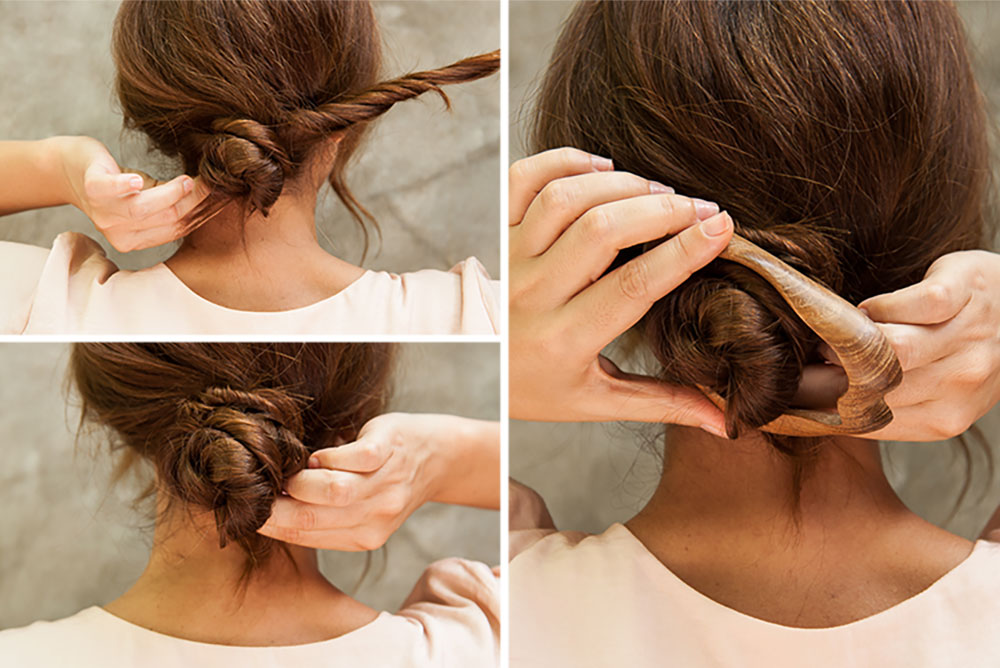 How To Use A Hair Stick Hair Stick Hair Fork And Hair Pin Tutorials